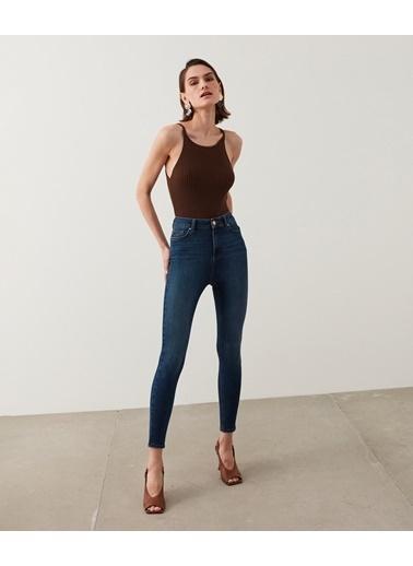Ipekyol Kadın Push-İn Skinny Fit Jean Pantolon IS1210018020AC7 Mavi